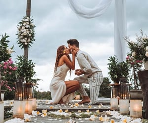 boys, couples, and flowers image