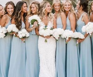 blue, wedding, and bridesmaids image