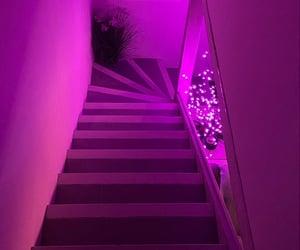 aesthetic, pink, and corridor image