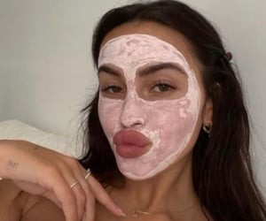 beauty, skin care, and mask image