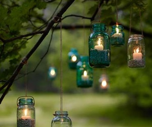 candle, light, and tree image