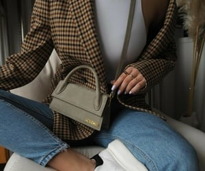 blazer, denim, and fashion image