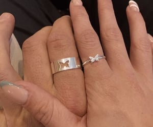 couple, rings, and aesthetic image