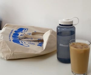 coffee, tote bag, and water image