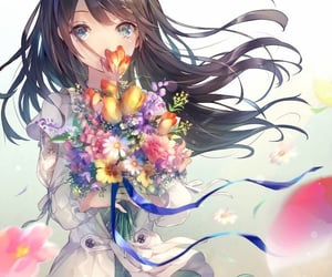 flower and happy image
