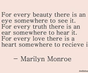 beauty, Marilyn Monroe, and words image