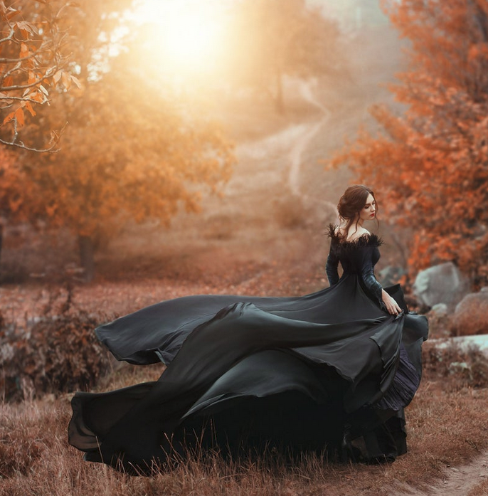 fall, sunset, and autumn image