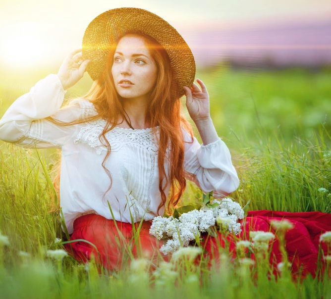 flowers, girls, and photography image