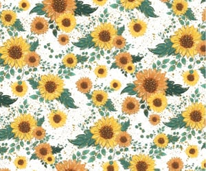 background, floral pattern, and flowers image