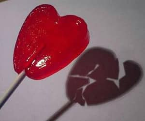 heart, red, and broken image