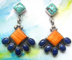 etsy, vintage earrings, and bold statement image