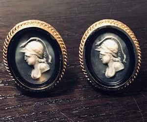 mens jewelry, cameo jewelry, and mid century fashion image
