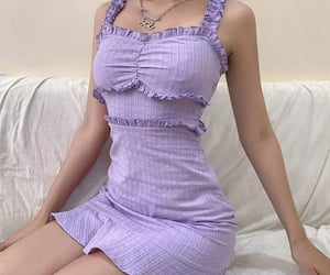 aesthetic, purple, and dress image