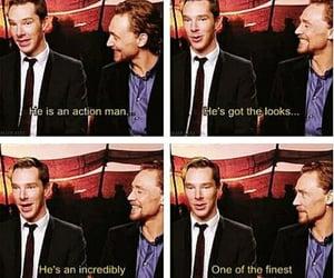 bromance, tom hiddleston, and benedict cumberbatch image