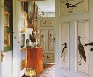 bird, door, and painting image