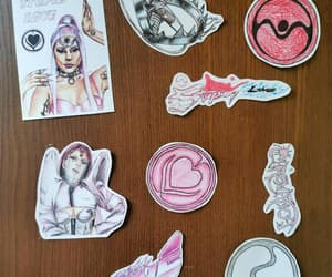 art print, pop music, and stickers image