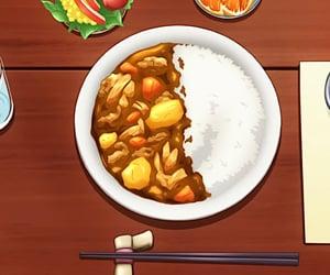 anime food, anime scenery, and anime image