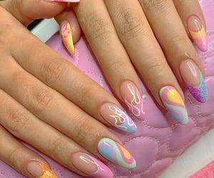 girl, nails, and nail inspo image