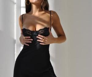 dress, lingerie dress, and little black dress image