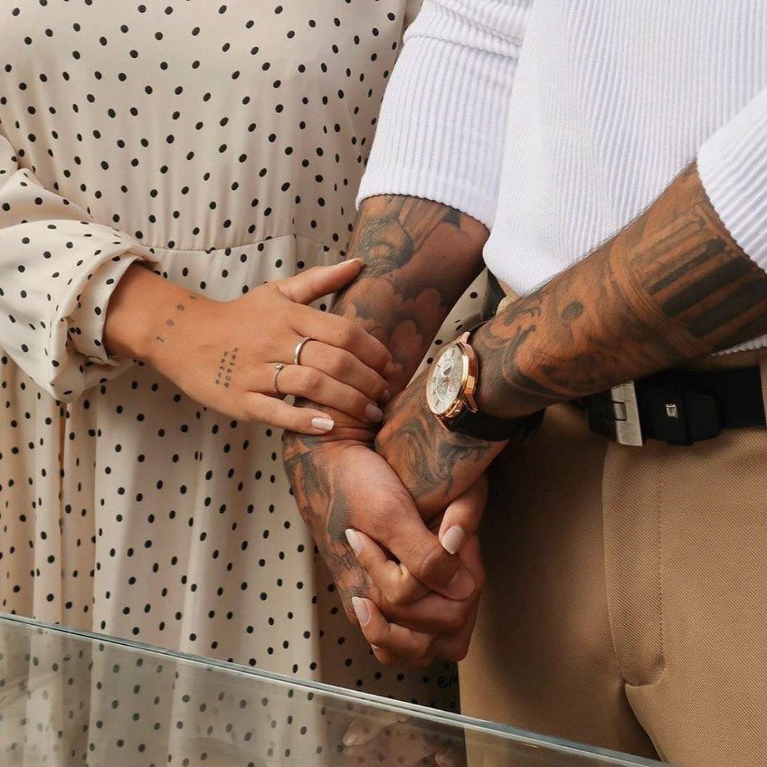 couple, hands, and hand image