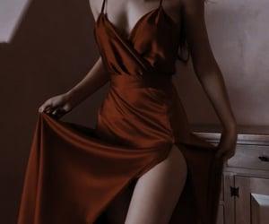 dress, elegant, and red image