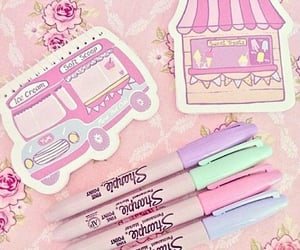 pastel, sharpies, and stickers image