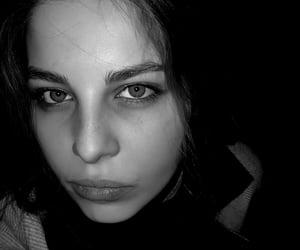 beauty, black&white, and eyes image
