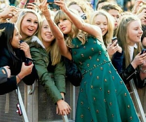 fans, Taylor Swift, and green dress image