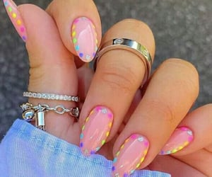 manicure, uñas, and color nails image