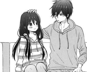 anime, black, and couple image