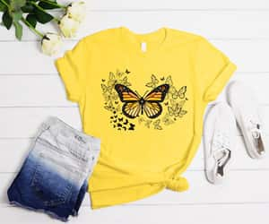 butterfly, comfort, and shirt image
