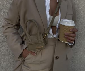 street style, blogger, and coffee image