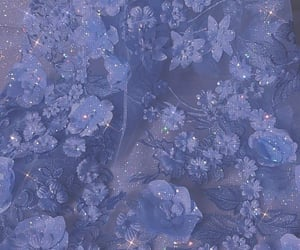 aesthetic, blue, and blue flowers image
