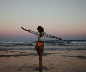 beach, girls, and lady image