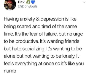 mental health, anxiety, and depression image