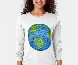 earth day, globe, and long sleeve image