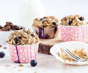 cupcakes, food, and muesli image