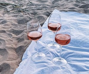 beach, champagne, and chill image