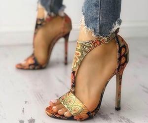 heels, highheels, and orange image