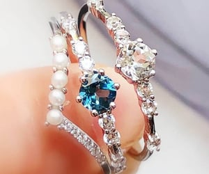 blue, ring, and pearl image