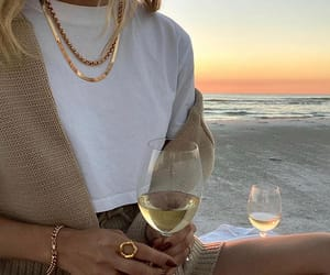 beach, bracelet, and golden image