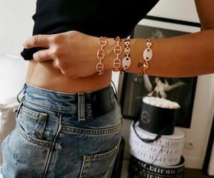 black top, blogger, and bracelets image