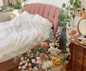 bedroom full of flowers