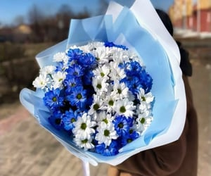gift, surprise, and flowers image