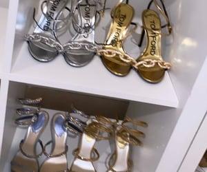 gold, shoe, and fashion image