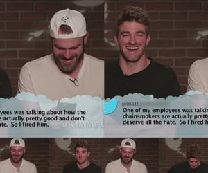 jimmy kimmel, mean, and the chainsmokers image
