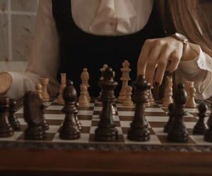 aesthetic, girl, and chess image