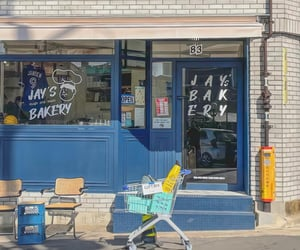 asia, bakery, and blue image