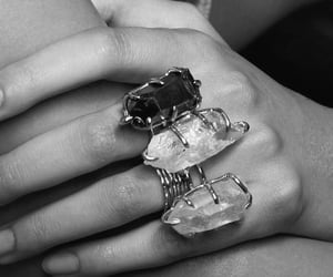 aesthetics, b&w, and rings image