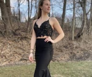 evening dress, formal wear, and girl image